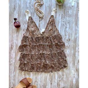 Victoria Secret tiered animal print cami/nightie